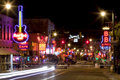 Beale streetin downtown memphis tennessee the famous it is a significant location in the city s history as well as in the history Royalty Free Stock Photo