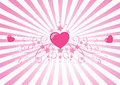 Beaming pink hearts  Stock Photography