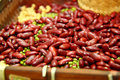Bean background in a printers box, pinto, lima, navy, black eyed Royalty Free Stock Photo