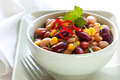 Bean and Corn Salad with Chili Royalty Free Stock Images