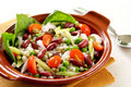 Bean & grains salad Stock Image