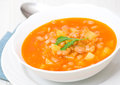 Bean soup with white beans and vegetables Royalty Free Stock Photos