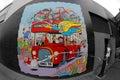 Beano autobusowy ścienny obraz Obraz Stock