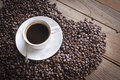 Beans coffee de café Images libres de droits