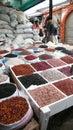 Beans market san cristobal de las casas in a in in mexico Stock Photo