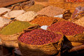 Beans and Pulses in a Lamu Town Market Royalty Free Stock Images