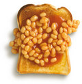 Beans on toast, Royalty Free Stock Images
