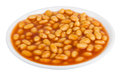 Beans in tomato sauce on plate Royalty Free Stock Photo