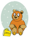 Bear awake from coffee Royalty Free Stock Images