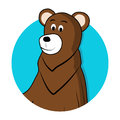 Bear brown grizzly avatar icon