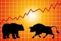 Bear and bull market Royalty Free Stock Photo