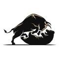 Bear and bull stock market Royalty Free Stock Photo