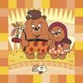 Medveď a jeseň