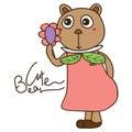 Bear Cute Like Flower Object