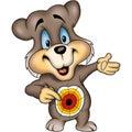 Bear with Dartboard