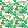 Bear and deer pattern
