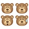 Bear expressions Royalty Free Stock Photos