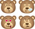 Bear expressions Stock Photography