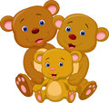 Bear family cartoon illustration of Royalty Free Stock Image