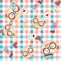 Bear family seamless pattern background vector supported with ai or eps can be used as wallpaper etc Royalty Free Stock Photos