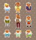 Bear family stickers Royalty Free Stock Photos