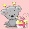 Bear with gift