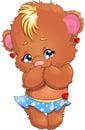 Bear girl Royalty Free Stock Photo