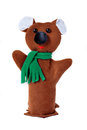 Bear hand puppet brown isolated Royalty Free Stock Images