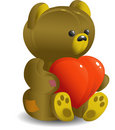 Bear with heart Stock Photo