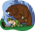 Bear hunter Royalty Free Stock Photo
