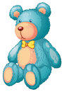 Bear illustration of a blue teddy Stock Images
