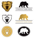 Bear Logo Set Stock Photo