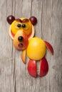 Bear made of fresh fruits Royalty Free Stock Photo