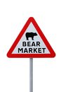 Bear Market Ahead Royalty Free Stock Photo
