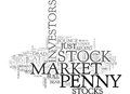 Bear Market Bull Market Or Dead Cat Bounceit Matters Little To The Stalwart Penny Stock Word Cloud Royalty Free Stock Photo