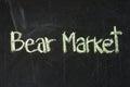 BEAR MARKET words Royalty Free Stock Photo