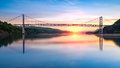 Bear Mountain Bridge at sunrise Royalty Free Stock Photo