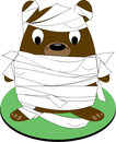 Bear mummy all wrapped up and ready to go our little is a special halloween critter super fun on a trick or treat bag Stock Photos