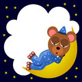 Bear nap frame a cartoon illustration of a with a sleeping design Royalty Free Stock Photos