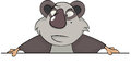 Bear panda cartoon portrait of the nice it is grey a white Royalty Free Stock Photography