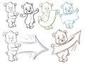 Bear pointer, arrows, frame