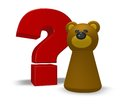 Bear question character and mark d illustration Royalty Free Stock Photos