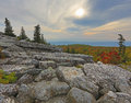 Bear rocks dolly sods west virginia sunries on mountain top at wv Stock Photo