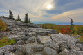 Bear rocks dolly sods west virginia sunries on mountain top at wv Royalty Free Stock Photo