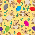 Bear Seamless Pattern_eps Stock Image