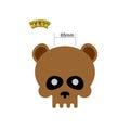 Bear skull mask. Masquerade for Halloween. Vector illustration o Royalty Free Stock Photo