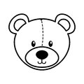 Bear teddy toy icon