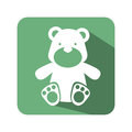 Bear toy baby icon
