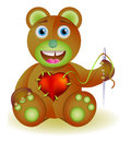 Bear toy with heart illustration version Stock Image