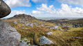 Bearah tor the view from on bodmin moor in cornwall Stock Photo